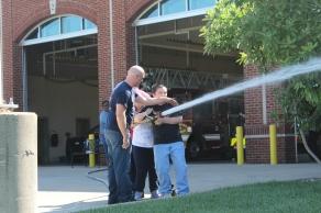 Spraying the Hose!