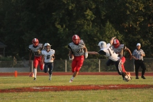 Running back Kamron fuller goes for the touchdown