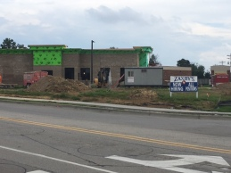 New Zaxby's under construction for Riveridge Commerce Center