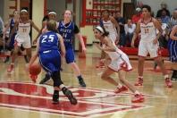 Tori Handley, 10 locking down on defense.