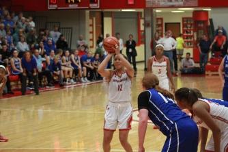 Jacinta Gibson, 11 shooting a free throw.