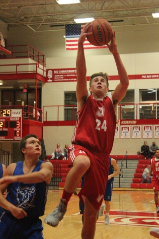 Bailey Falkenstein, 11 going up for a layup.