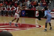 Jacob Jones, 9, zipping the ball through the court.