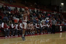 Bailey Falkenstein, 11, shoots the three.