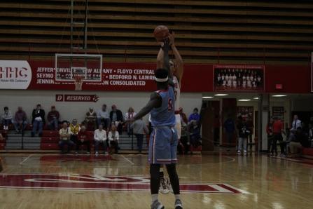 Gerrin Moore, 11, shoots a three.