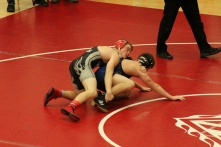 In the 138 weight class Jeff's Carson Somerville fights to pick up third after qualifying for regionals.