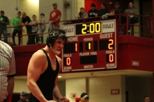 Jeff's Jack Ferraro picks up a 2-1 win in the sectional final in the 145 weight class.