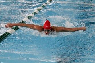 Rachel Walker in the 200 yard meter relay.