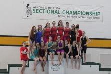 Red Devils with their Sectional trophy.