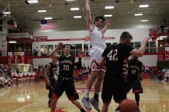 Bailey Falkenstein loses the ball.
