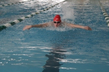 Adeline Dixon in the 200 yard IM.