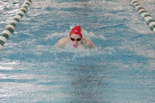 Sydney Sansbury in the 100 yard butterfly.