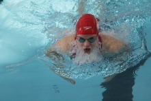 Caroline Elliott in the 100 yard breaststroke.