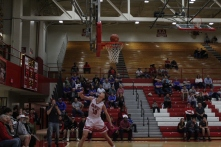 Joe LaGrange converts the fastbreak layup.