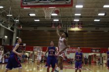 Jacob Jones flips in the layup.