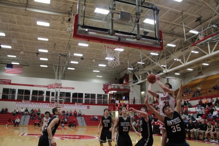Bailey Falkenstein with the contested layup.