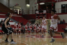 Jacob Jones bringing up the ball.