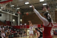 Bailey Falkenstein at the free throw line.