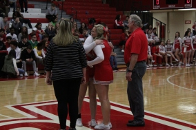 Senior Autumn Brown during senior night with Adrianna Westbrook.