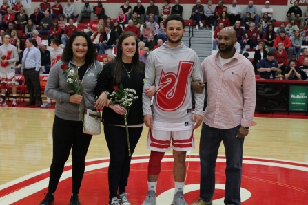Senior Cam Nothern and his family.