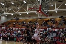 Bailey Falkenstein with the layup.