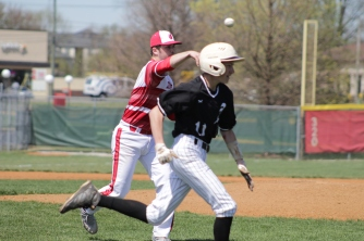 Jacob Cochrum throws out the batter.
