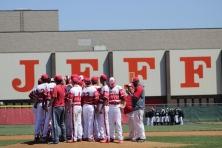 Jeffersonville baseball after celebrating the 1-0 victory over Austin.