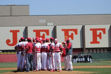 Jeffersonville baseball after celebrating the 1-0 victory over Austin.