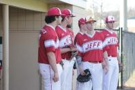 Hunter Schmitz, Bailey Falkenstein, Trey Bottorff before the game.