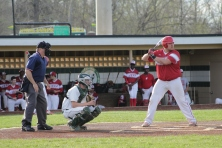 Ian Fransisco at bat.