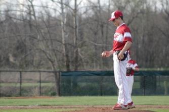 Gabe Bierman on the mound.