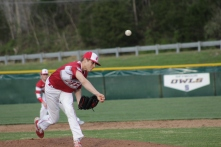 Gabe Bierman pitching,