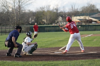 Hunter Schmitz swings for the ball.