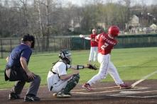 Trey Bottorff swings the bat.
