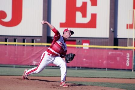 Ethan English pitching