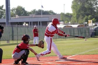 Mike Minton at bat