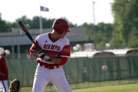 Ethan English at bat