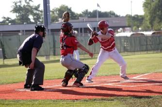 Nick Grider at bat