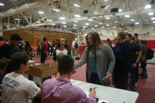 The JHS Yearbook Signing Party was held in William S. Johnson Arena on Friday, May 12, 2017.