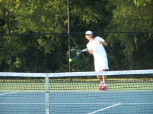 Jerid Inman two singles warming up with Keith Asplund on Saturday morning