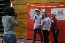 Along with dancing, students had the opportunity to have some fun, including posing at a photo booth.
