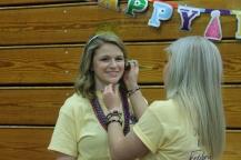 Senior Caroline Elliott has her face painted for the event.