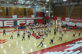 A portion of the main floor during choreographed dancing.